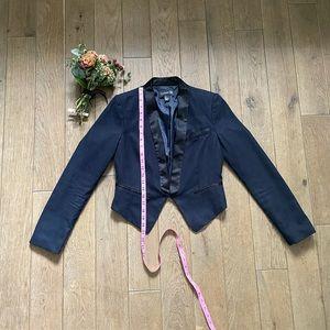 Navy and black blazer
